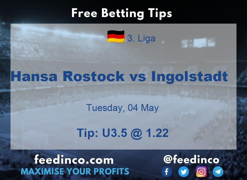 Hansa Rostock vs Ingolstadt Prediction
