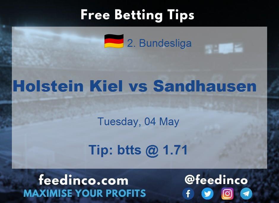 Holstein Kiel vs Sandhausen Prediction