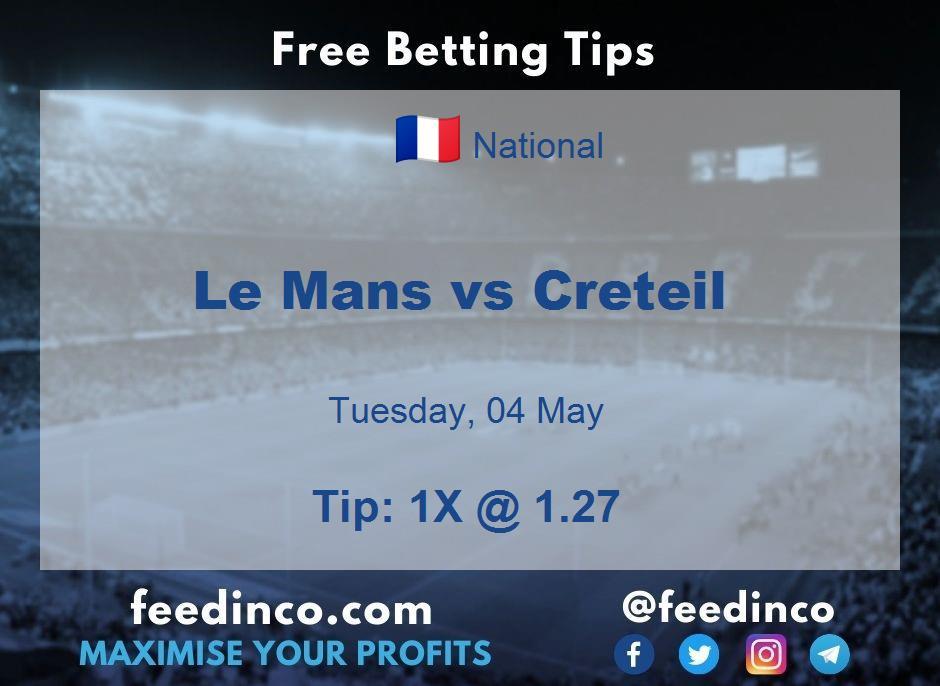 Le Mans vs Creteil Prediction