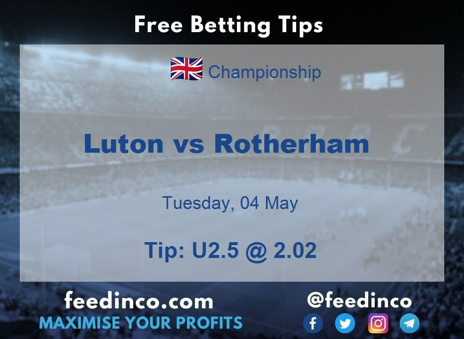 Luton vs Rotherham Prediction