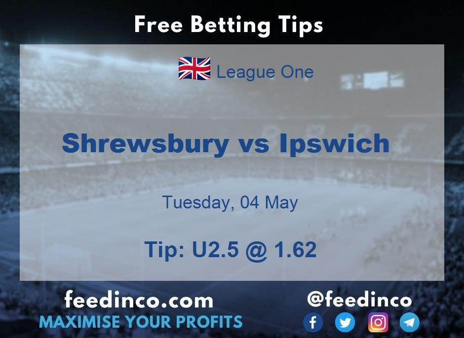 Shrewsbury vs Ipswich Prediction