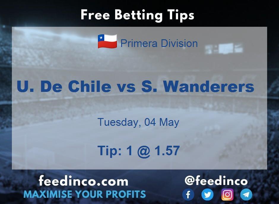 U. De Chile vs S. Wanderers Prediction