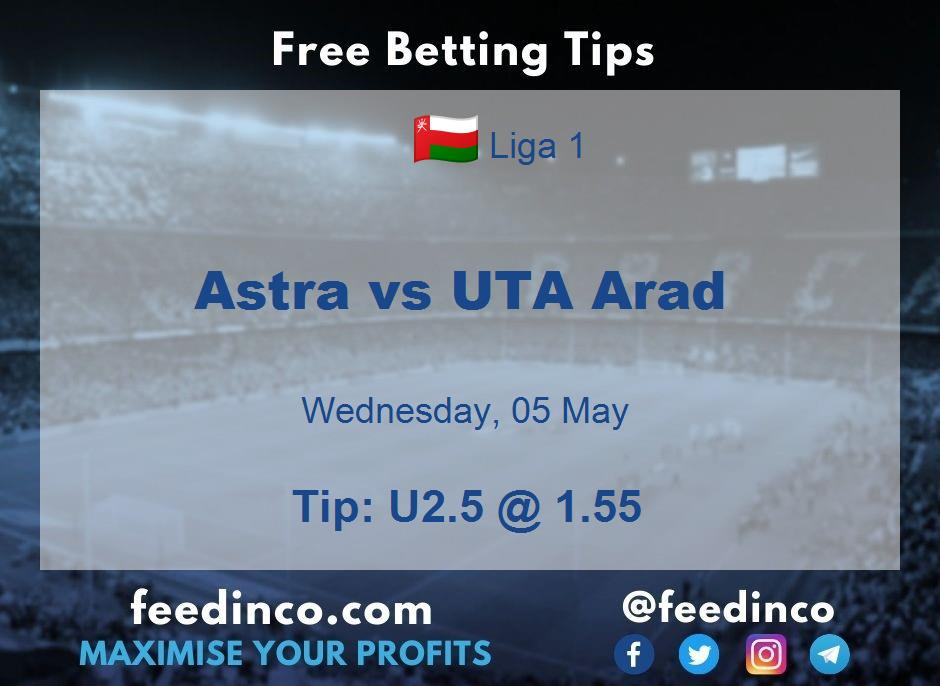 Astra vs UTA Arad Prediction