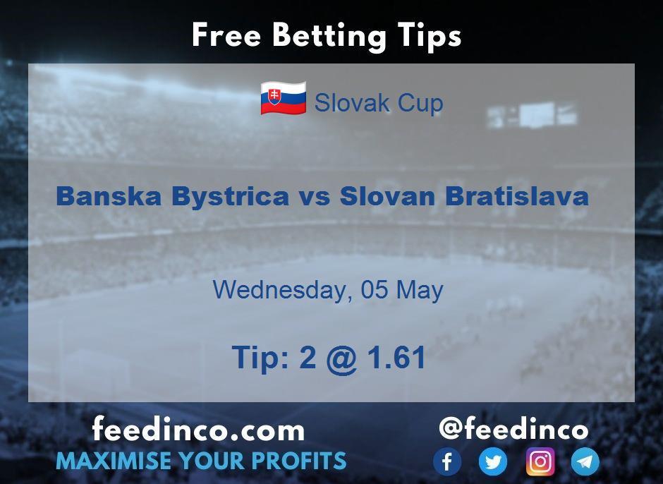 Banska Bystrica vs Slovan Bratislava Prediction
