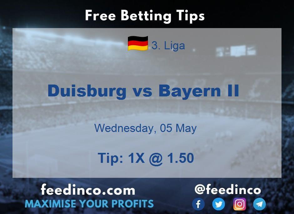 Duisburg vs Bayern II Prediction