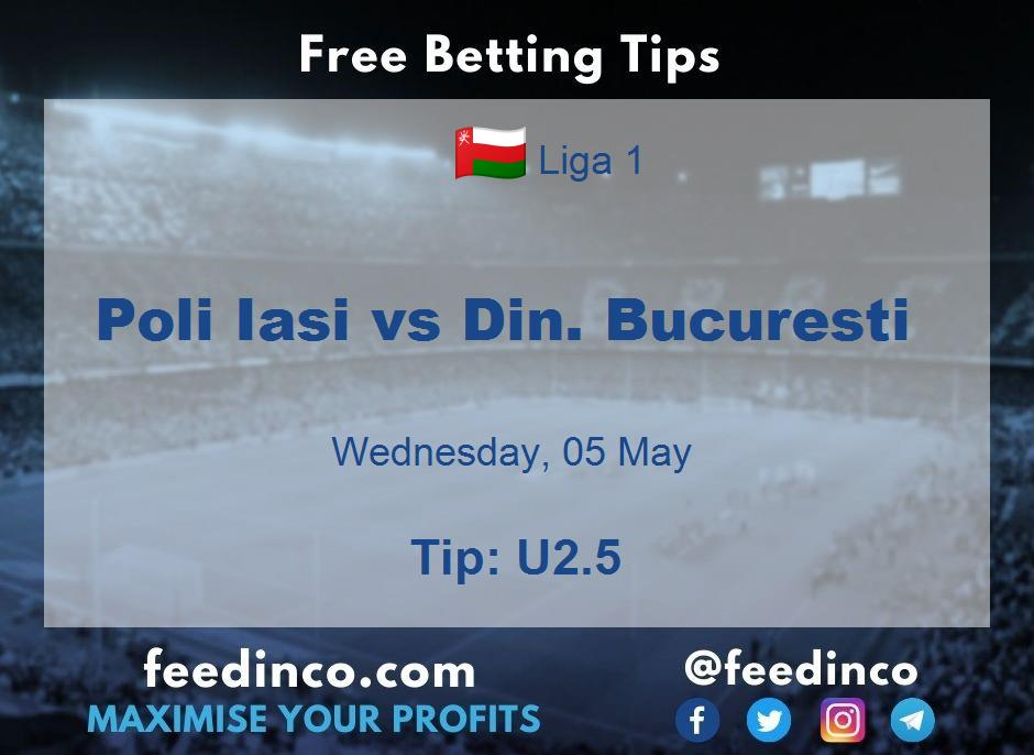 Poli Iasi vs Din. Bucuresti Prediction