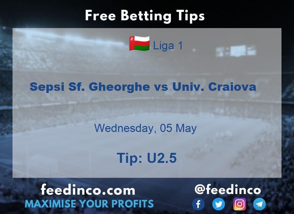 Sepsi Sf. Gheorghe vs Univ. Craiova Prediction