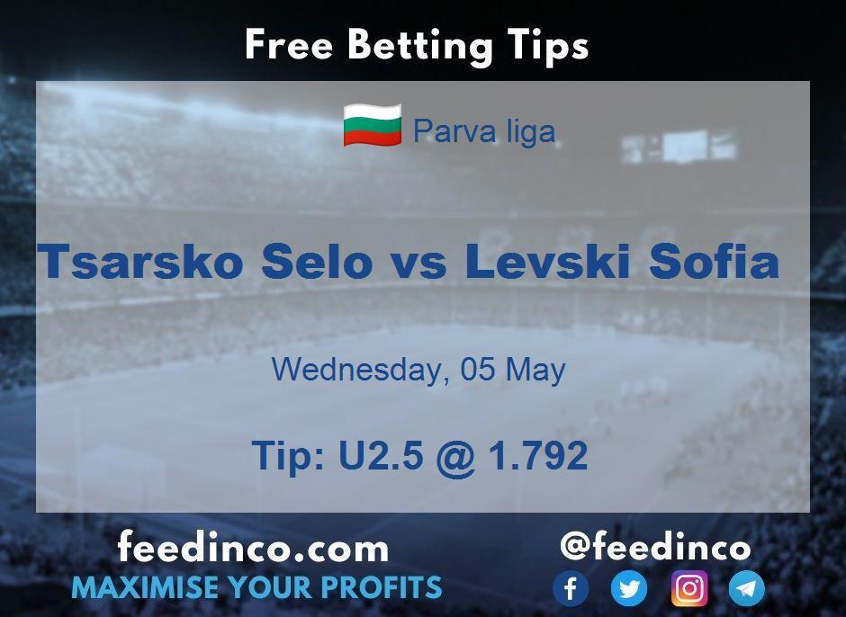 Tsarsko Selo vs Levski Sofia Prediction