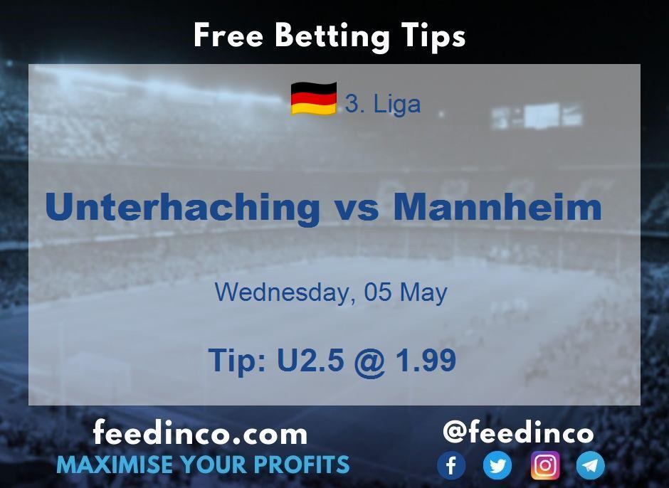 Unterhaching vs Mannheim Prediction