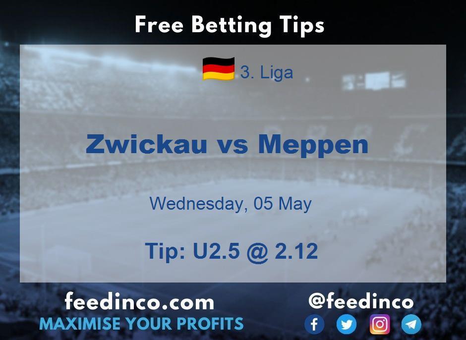 Zwickau vs Meppen Prediction