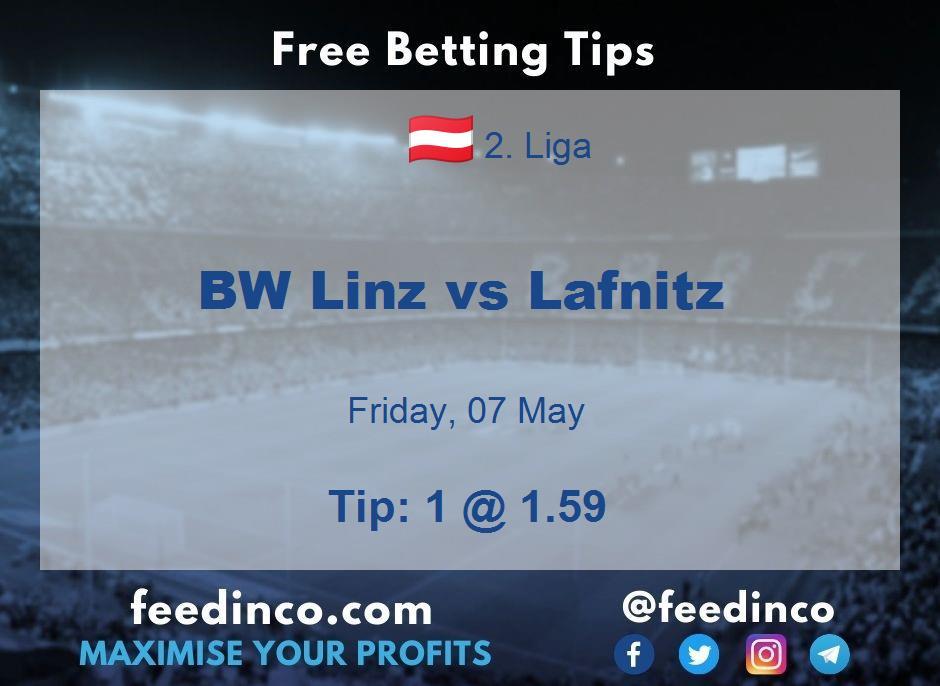 BW Linz vs Lafnitz Prediction