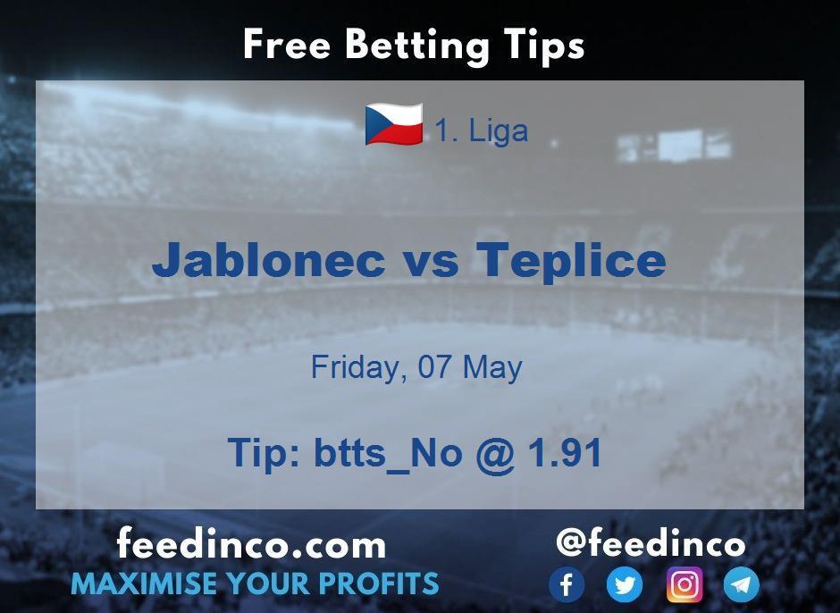 Jablonec vs Teplice Prediction