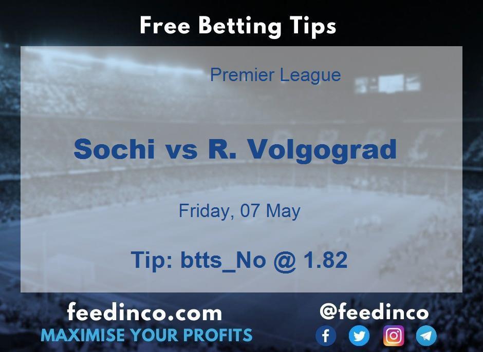 Sochi vs R. Volgograd Prediction