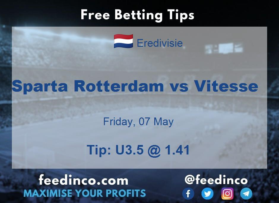 Sparta Rotterdam vs Vitesse Prediction