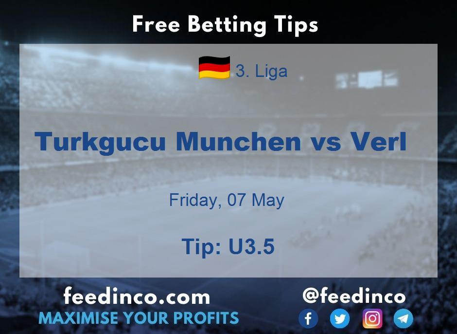 Turkgucu Munchen vs Verl Prediction