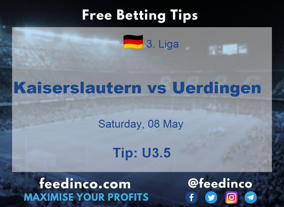 Kaiserslautern vs Uerdingen Prediction