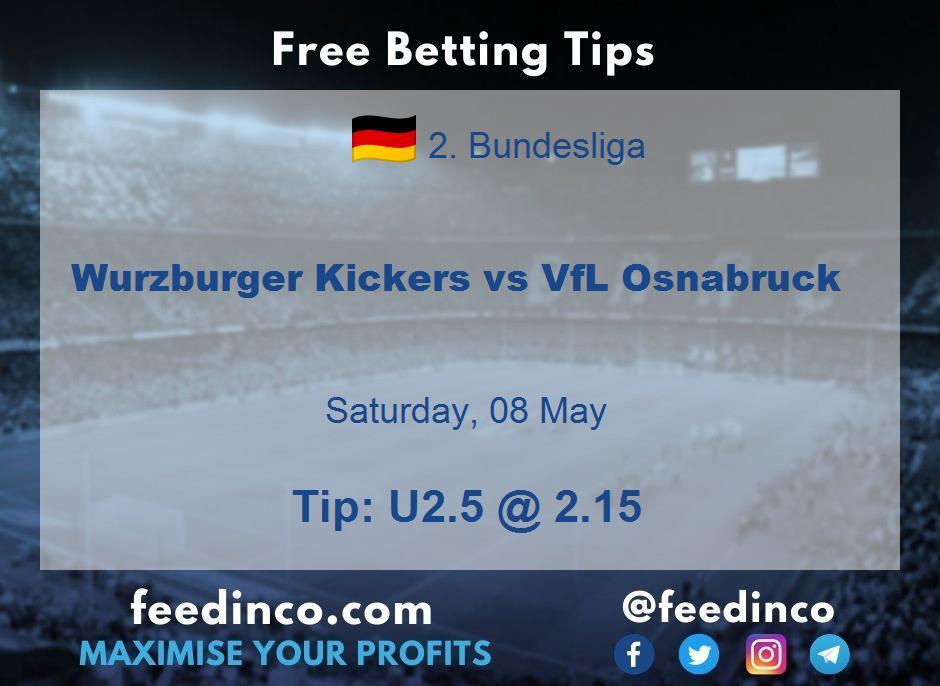 Wurzburger Kickers vs VfL Osnabruck Prediction
