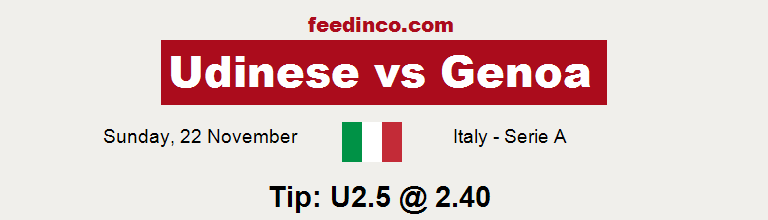Udinese v Genoa Prediction