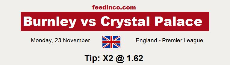 Burnley v Crystal Palace Prediction