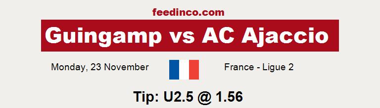 Guingamp v AC Ajaccio Prediction