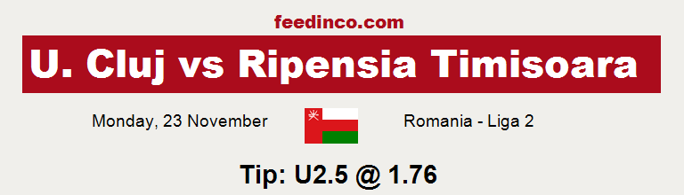 U. Cluj v Ripensia Timisoara Prediction