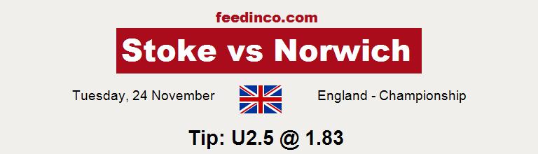 Stoke v Norwich Prediction