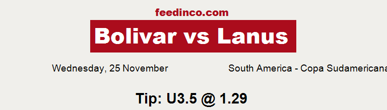 Bolivar v Lanus Prediction