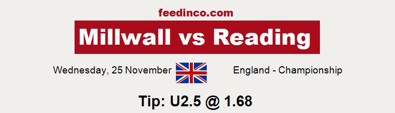 Millwall v Reading Prediction