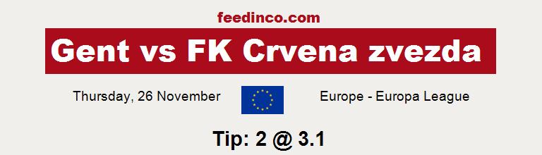 Gent v FK Crvena zvezda Prediction