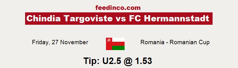 Chindia Targoviste v FC Hermannstadt Prediction