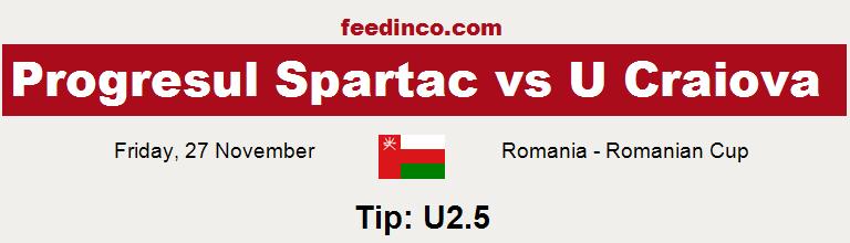 Progresul Spartac v U Craiova Prediction