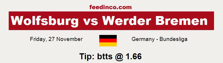 Wolfsburg v Werder Bremen Prediction