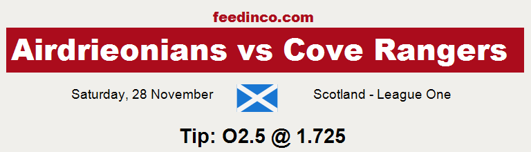 Airdrieonians v Cove Rangers Prediction