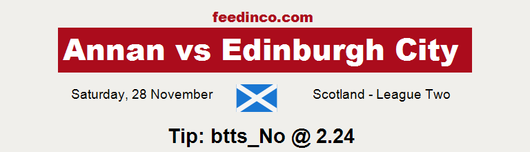 Annan v Edinburgh City Prediction