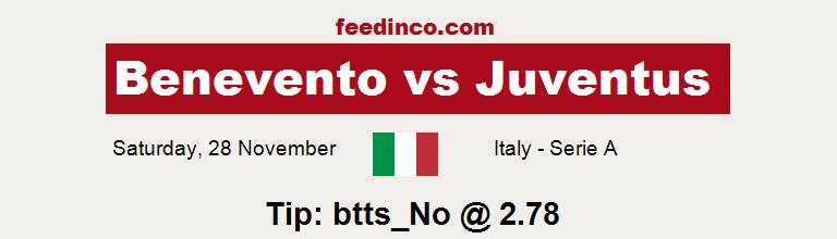 Benevento v Juventus Prediction