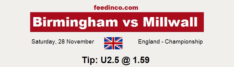 Birmingham v Millwall Prediction