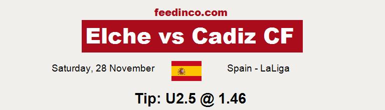 Elche v Cadiz CF Prediction