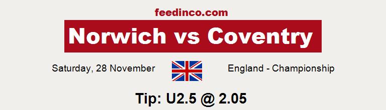 Norwich v Coventry Prediction