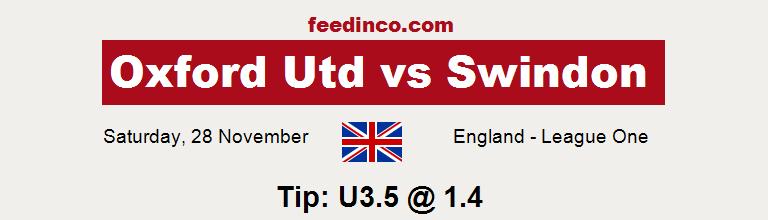 Oxford Utd v Swindon Prediction