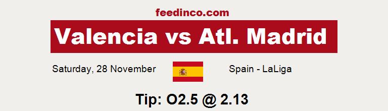 Valencia v Atl. Madrid Prediction