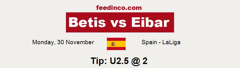 Betis v Eibar Prediction