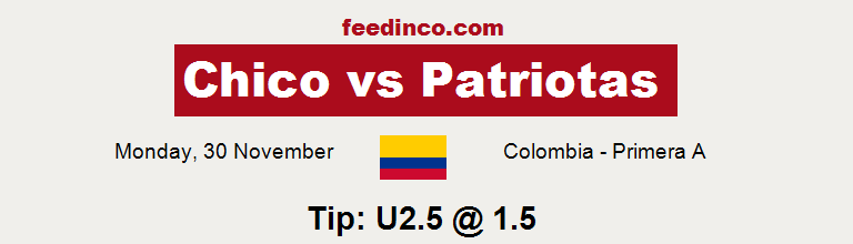 Chico v Patriotas Prediction