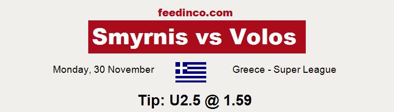 Smyrnis v Volos Prediction