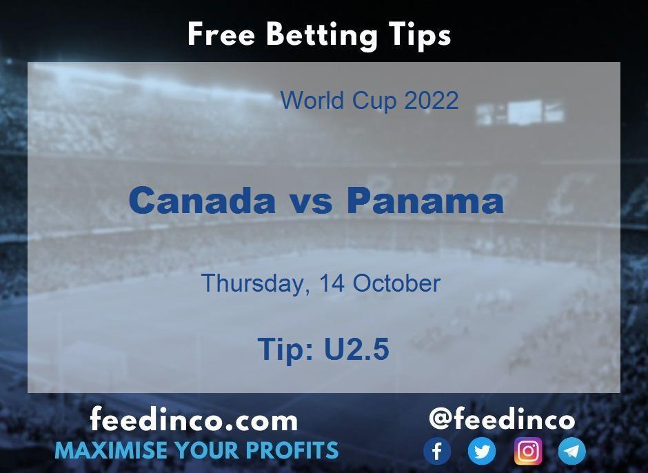 Canada vs Panama Prediction & Betting Tips (14 October)