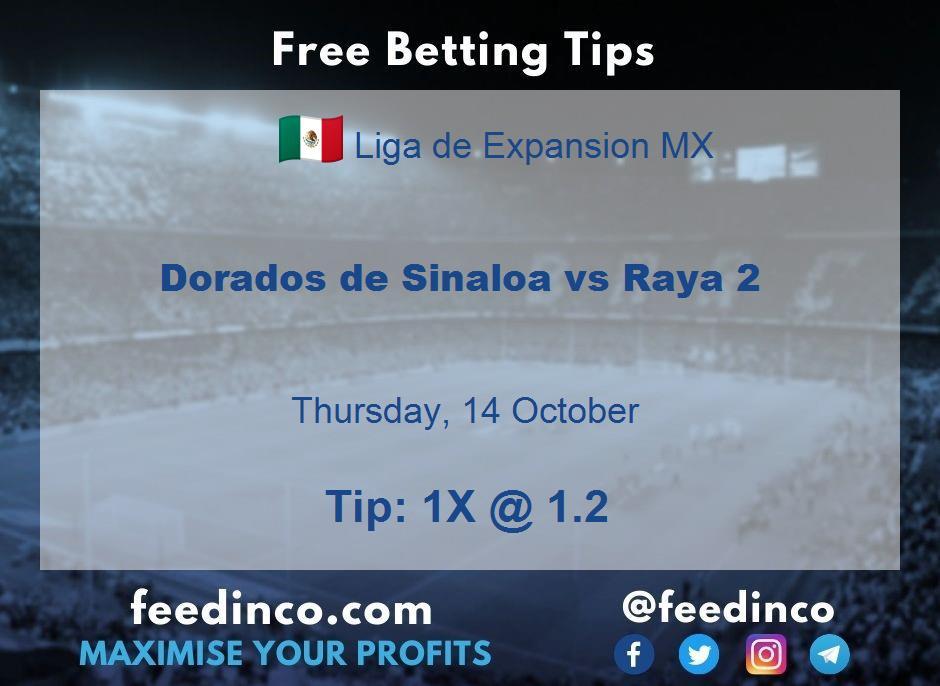 Dorados de Sinaloa vs Raya 2 Prediction
