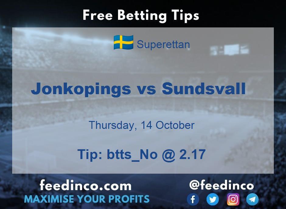 Jonkopings vs Sundsvall Prediction