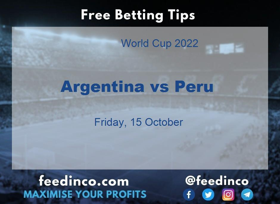 Argentina vs Peru Prediction