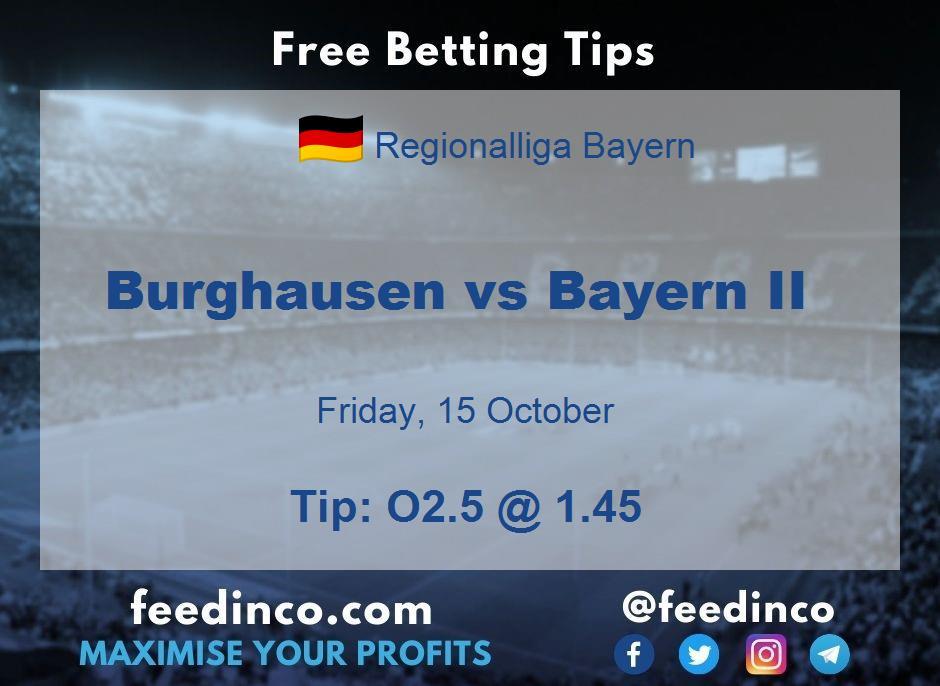 Burghausen vs Bayern II Prediction