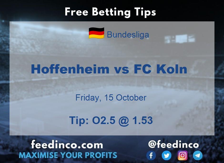 Hoffenheim vs FC Koln Prediction