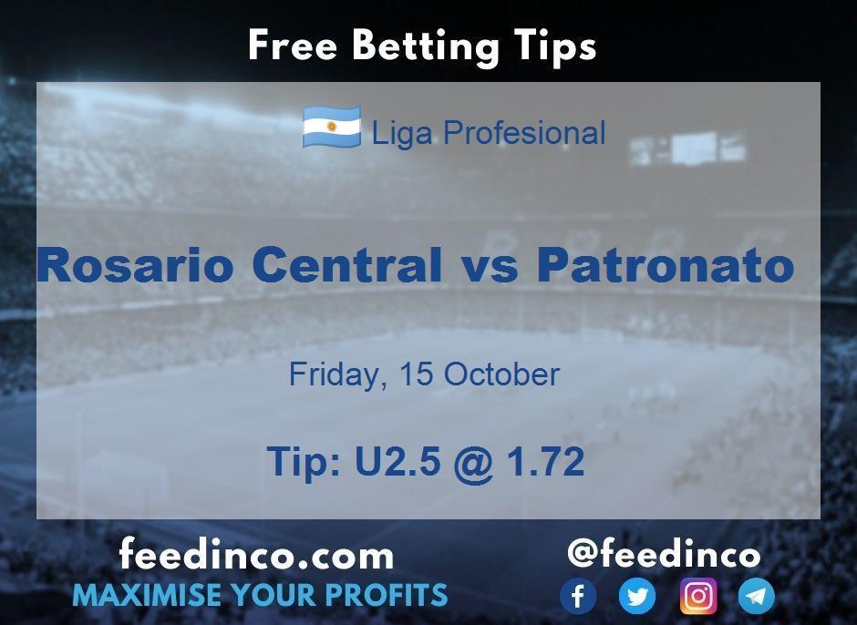 Rosario Central vs Patronato Prediction